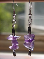 Amethyst Rock Candy earrings