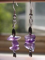 Amethyst Rock Candy earrings