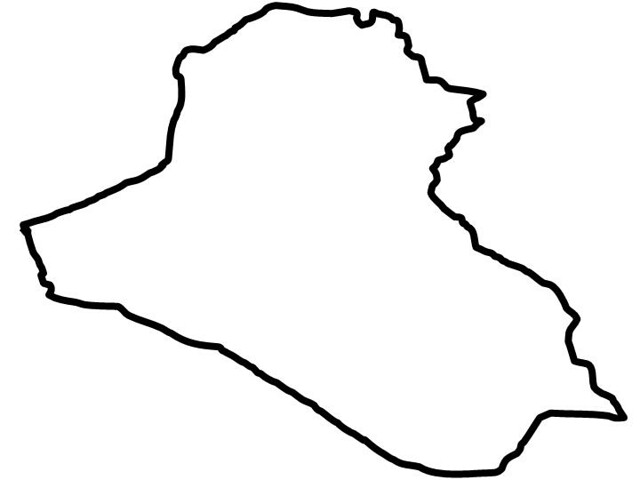 Iraq Country Outline Sketch Coloring Page