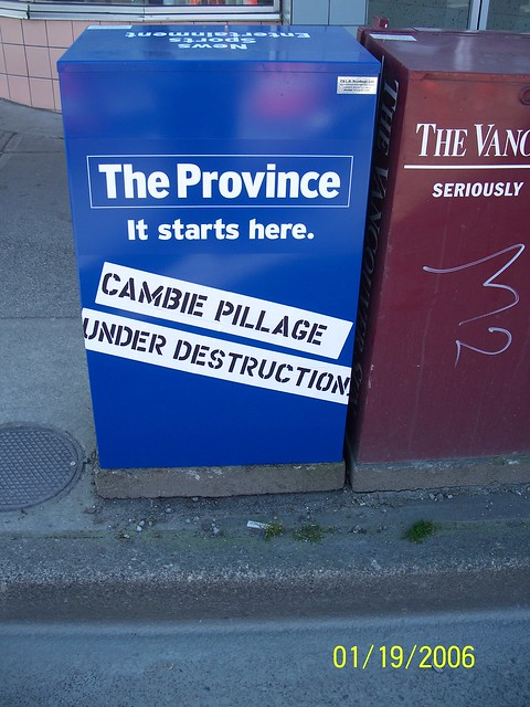 cambie pillage under destruction