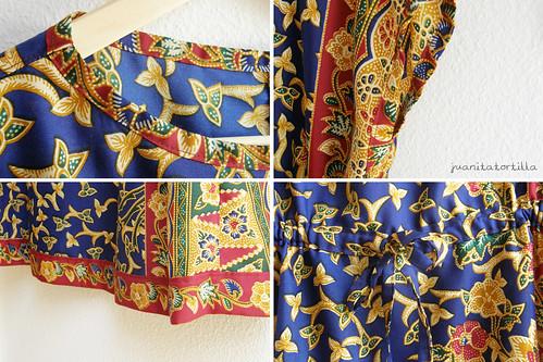 My first dress. A batik dress. Details.