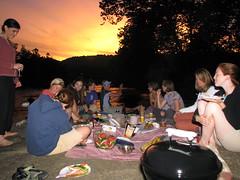 Picnic at sunset Ohiopyle, PA