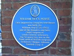 Photo of William Hey blue plaque