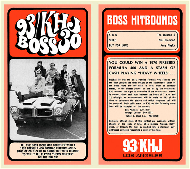 1970 Feb 25 - Issue #243 - The Boss Jocks invite you to play for some Heavy Wheels on 93 KHJ.
