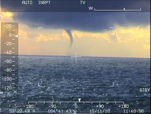 Giant Waterspout Filmed by RAF Search and Rescue Crew