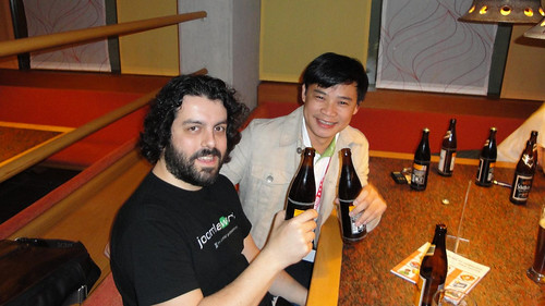 Hung, Fotis (joomlaworks), Joomla, JandBeyond and Beer