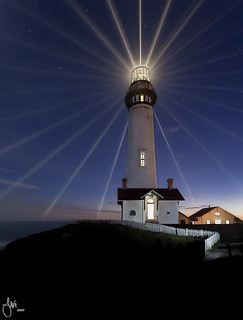 LIght Beams- Pigeon Point LIghthouse, San Mateo, CA