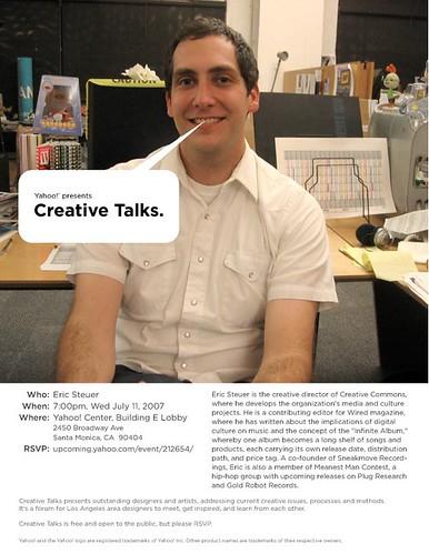 Creative Talks: Eric Steuer