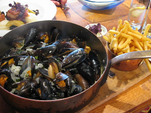 Moules Frites at Greens of Whitby