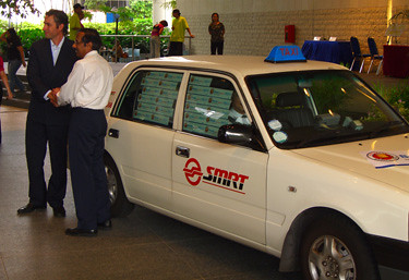 An SMRT Taxi Cab BookCross Hotspot! | Flickr - Photo Sharing!