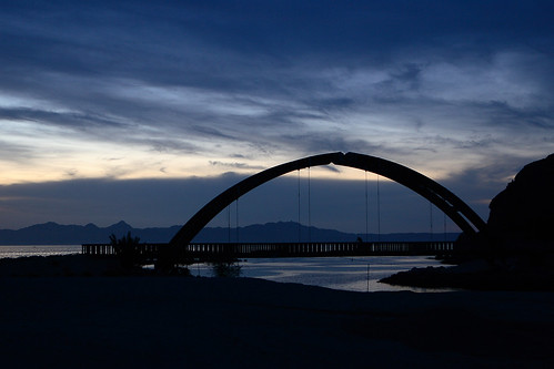 bridge blue sun mountains clouds sunrise mexico person first amanecer nubes nuvens feed loreto amanhecer bcs loretobay isawyou isawyoufirst diamondclassphotographer