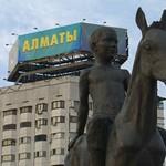 Statue of Boy on Donkey - Almaty, Kazakhstan