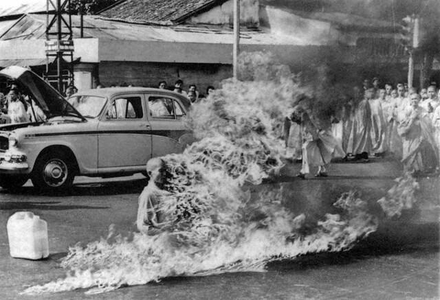 Thích Quảng Đức's self immolation