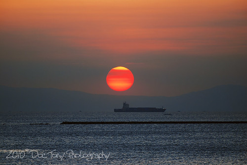 sunset sea sun water bay nikon ship philippines manila sunsetmania