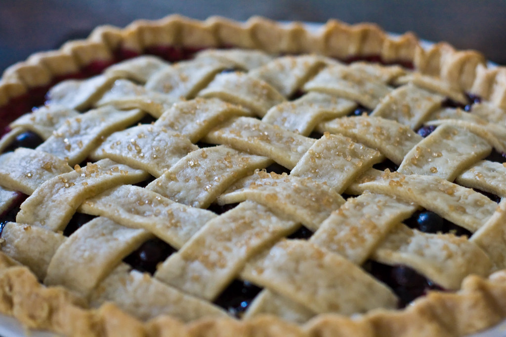 blueberry pie commercially prepared