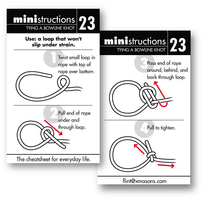 tying a bowline knot ministructions are a series of illust\u2026 flickr