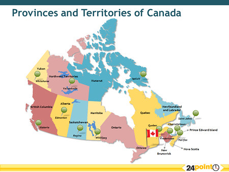 Provinces And Territories Of Canada Map.A Map Of Canada With The Provinces And Territories Of Cana Flickr