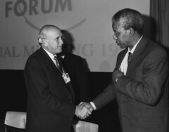 Frederik de Klerk & Nelson Mandela - World Economic Forum Annual Meeting Davos 1992