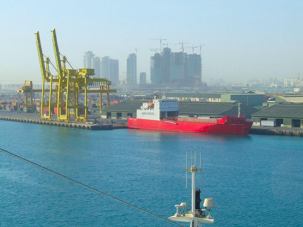 Ship docked in Abu Dhabi Port