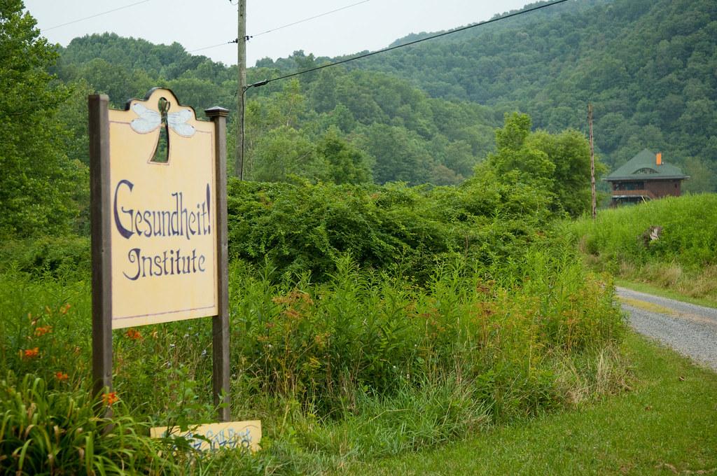 Gesundheit Institute sign