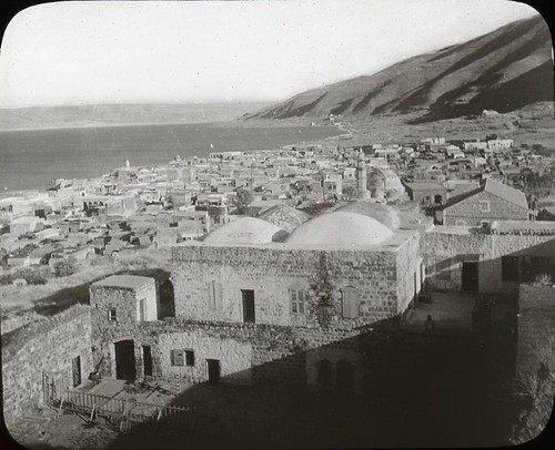 Tiberias and Sea of Galilee, Looking South.  Imagen tomada de la Galería de OSU Special Collections & Archives: Commons