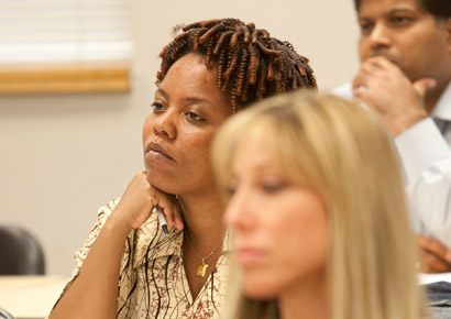 Newman University student in class