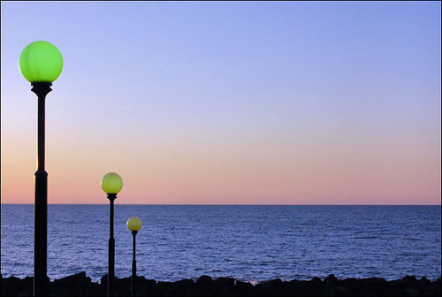 sunset lake colorful lamps erie bestnaturetnc07