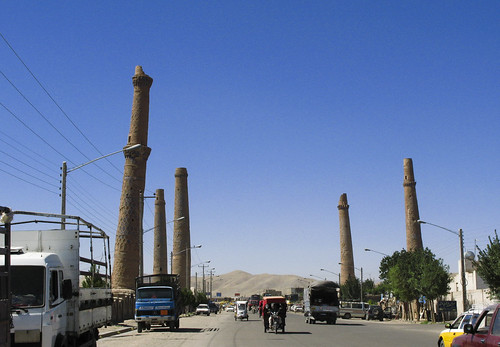 The minarets in Herat