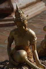Statue At Phra Maha Chedi Chai Mongkol