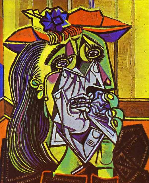 pablo picasso weeping woman flickr photo sharing. Black Bedroom Furniture Sets. Home Design Ideas