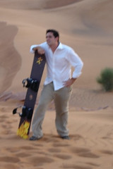 Abu Dhabi sand surfing - getting back up is the hard part