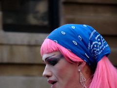 face, clothing, head, blue, pink, headgear,