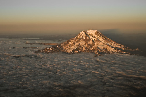 rainier from the window seat