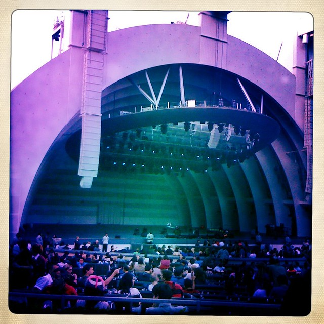 My view from the terrace box at the hollywood bowl for Terrace 2 hollywood bowl
