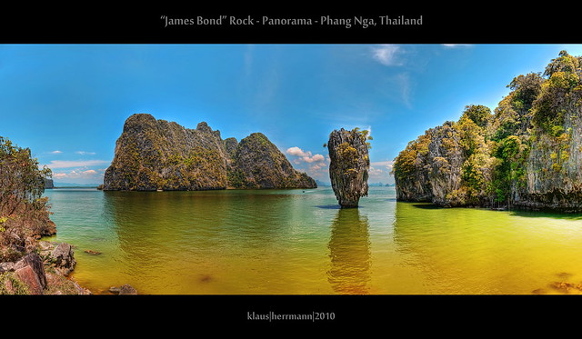 James Bond Rock - Panorama - Phang Nga, Thailand (HDR)