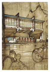 Design for Southern Motors Garage, Causewayside, Edinburgh