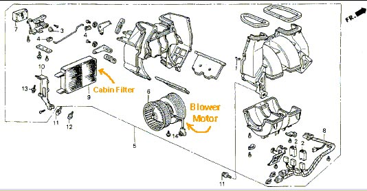 service manual  1995 acura integra how to remove blower