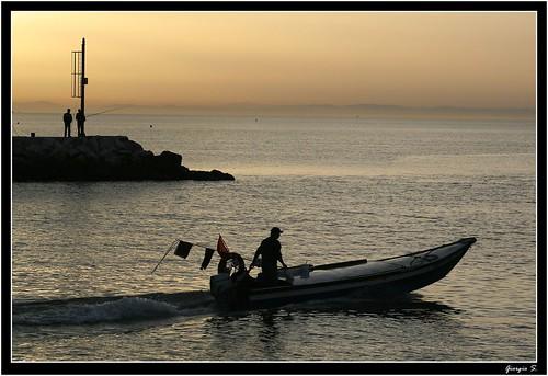 sea sunrise canon eos fisherman mare alba sailaway molo caorle giorgios pescatori pescare flickrsbest xti masterofmobiles 400d