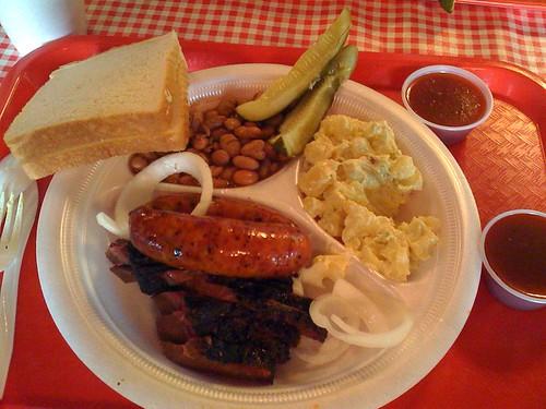 Briket and Sausage Plate