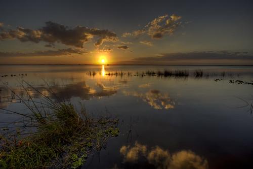 november sunset sky cloud lake reflection water horizontal clouds canon landscape outdoors eos rebel washington scenery florida melbourne fl hdr 1022 2010 xsi efs1022 450d canon450d canonxsi