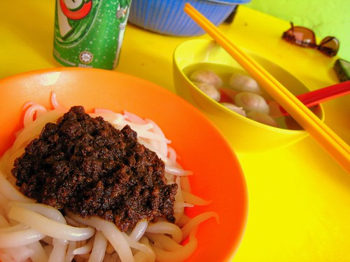Mee Tai Mak Noodles with Beef Balls