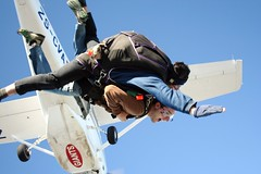tandem skydiving, air sports, sports, parachuting, extreme sport,