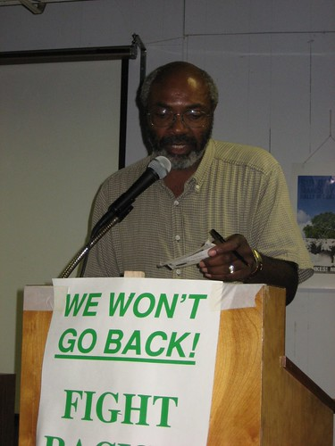 Abayomi Azikiwe, editor of the Pan-African News Wire, delivering an address on the prison industrial complex on Saturday, August 25, 2007. (Photo: Cheryl LaBash). by Pan-African News Wire File Photos