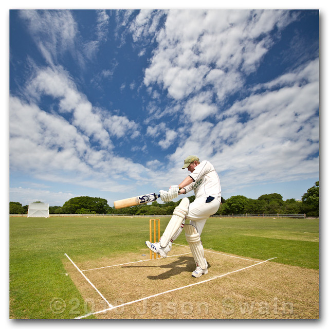 Cricket shots #1. Square Cut (Vertorama)