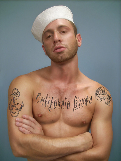 Jean paul gaultier study gay sailor tattoo flickr for Tattoos for gay men