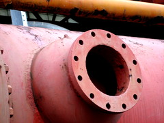 pipe, red, metal, iron,