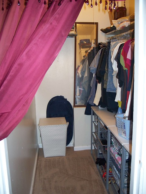 The after picture of the walk-in closet