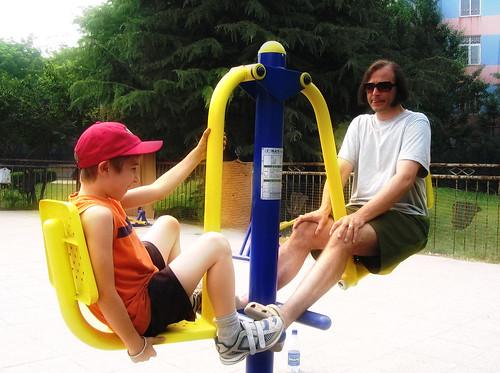 Elliot and Dan Exercising