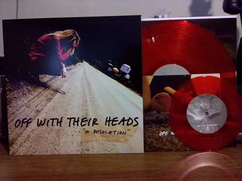 "Off With Their Heads - In Desolation LP & Trying To Breathe 7"" - Both  on Red Vinyl by factportugal"