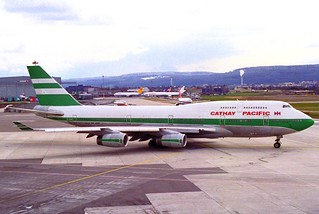 Cathay Pacific Boeing 747-400; VR-HOW@ZRH;04.03.1995